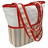 Hoohobbers Tote Diaper Bag, Stellar Stripes
