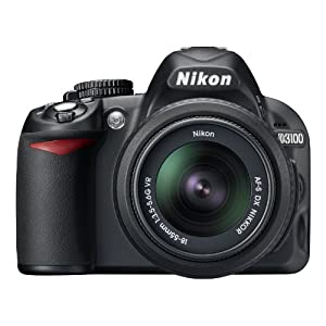 10. Nikon D3100 14.2MP Digital SLR Camera with 18-55mm f/3.5-5.6 AF-S DX VR Nikkor Zoom Lens. Price: $549