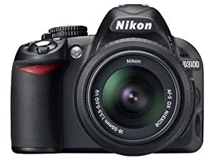 Nikon D3100 DSLR Camera with 18-55mm f/3.5-5.6 AF-S Nikkor Zoom Lens (OLD MODEL)