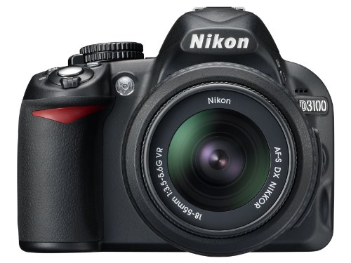Nikon D3100 DSLR Camera with 18-55mm f 3.5-5.6 Auto Focus-S Nikkor Zoom Lens (Discontinued by Manufacturer)