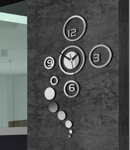 ZJchao Home Decorative Wall Clock Modern Design Large Mirrors Gift Living Room Decorative Clock