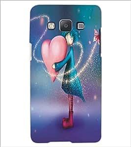 SAMSUNG GALAXY E5 SAD GIRL Designer Back Cover Case By PRINTSWAG