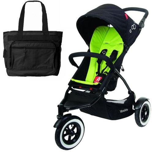 Phil Teds Dot Buggy Stroller With Diaper Bag - Apple front-981015