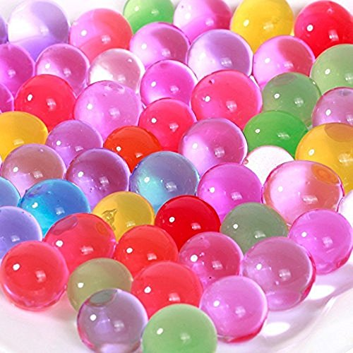 8 Ounces, Approx. 20,000  Marble Size Jelly BeadZ Water Bead Gel, For Stress Balls, Summer Rainbow Mix (Ball Water compare prices)