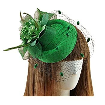 Fascinator Hair Clip Pillbox Hat Bowler Feather Flower Veil Wedding Party Hat