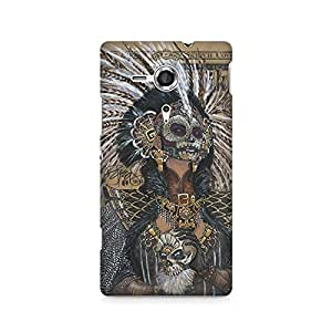 Mobicture Skull Abstract Premium Printed Case For Sony Xperia SP M35H