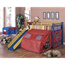 Coaster Bunk Bed With Slide And Tent Multicolor