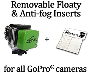 Removable Floaty + Anti-Fog Inserts compatible with all GoPro® cameras by The Accessory Pro
