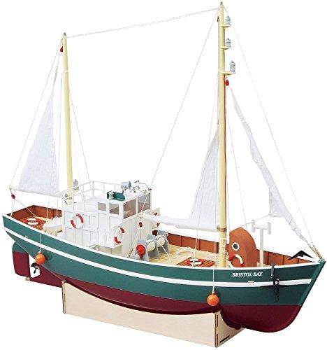 AquaCraft-Bristol-Bay-RC-Fischkutter-Fischerboot-GFK-Rumpf-Holzdeck-Beleuchtung