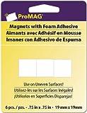 "Magnum Magnetics Corp Mega Strong Magnetic Squares w/Foam Adhesive-3/4"", 6/Pkg."