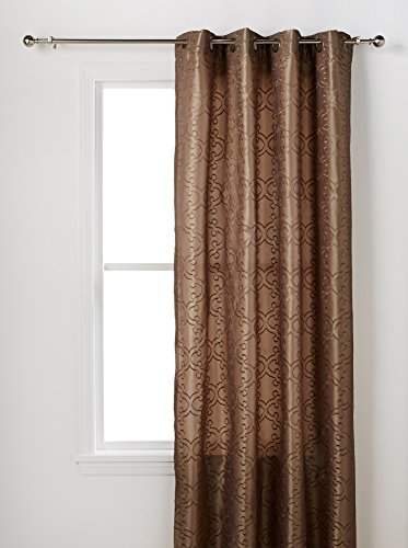 Alyssa Joy Navello Taupe Gmt Window Panels, 100P - 1