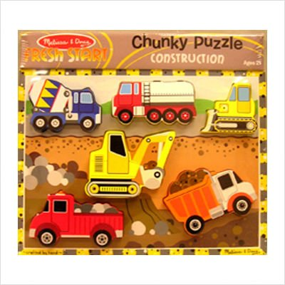 Cheap Melissa & Doug Construction Chunky Puzzle (B002IXEZ76)
