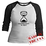 Counting down to April Pregnancy Jr. Raglan by CafePress