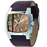 Diesel DZ1132 Gents Brown Leather Strap, Stainless Steel Case Large 3D Number 9