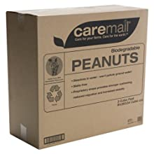 CareMail Biodegradable Peanuts Box Void Fill, 3 Cubic Feet (1118683)