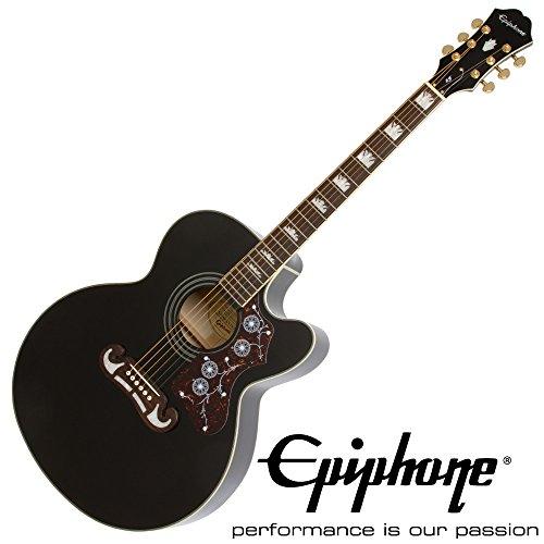 Epiphone EJ-200SCE BK エレクトリックアコースティックギター