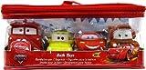 Disney / Pixar CARS Movie 4Piece Bath Toy Set Lightning McQueen, Tow Mater, Luigi & Red