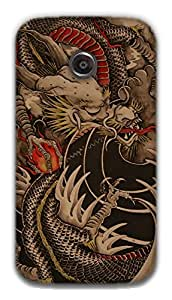 The Racoon Grip dragon hard plastic printed back case / cover for Moto E