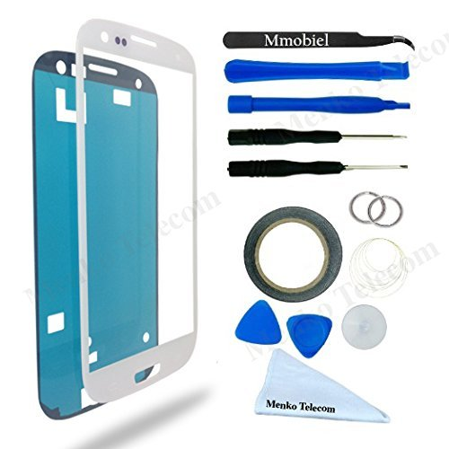SAMSUNG GALAXY S3 i9300 I747 T999 I939 I535 R530 WHITE Display Touchscreen Replacement Kit 14 Pieces Including: 1 Replacement Front Glass For SAMSUNG GALAXY S3 i9300 I747 T999 I939 I535 R530 / 1 Pair Of Tweezers / 1 Roll Of 2MM Adhesive Tape / Pre Cut adhesive sticker /  1 Tool kit / 1 Microfiber Cleaning Cloth / Suction Cup / Wire (Display For S3 compare prices)