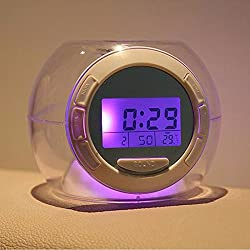 Color Changing Clock Watch LED Light With Nature Sounds Multifunctional Alarm Clocks