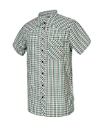 ICEPEAK Camisa Hombre Stuart (Gris / Verde)