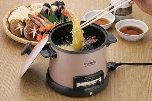 プレステージ 温度調節機能付 電気天ぷら鍋 MTN-654P