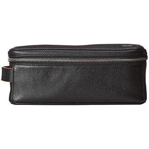 (ジャック・スペード) Jack Spade 旅行バッグ、ポーチ メンズ Jack Spade Mason Leather Zipper Top Dopp Black