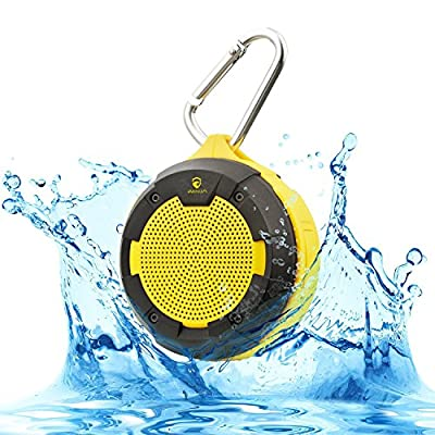 iNINJA(TM)Outdoor & Indoor Waterproof Bluetooth Speaker Portable Shower Speaker Built-In Rechargeable Battery with Holder Mount for Bicycles,Backpacks