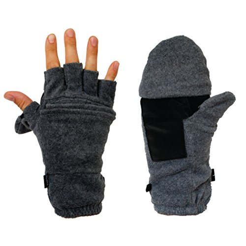 Hot Headz Polarex Glomitts Gloves, Grey, X-Large