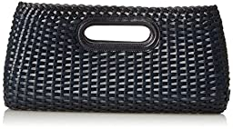 Brahmin Nantucket Clutch, Navy, One Size