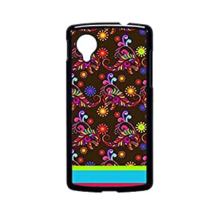 Vibhar printed case back cover for Nexus 5 BrownPattern