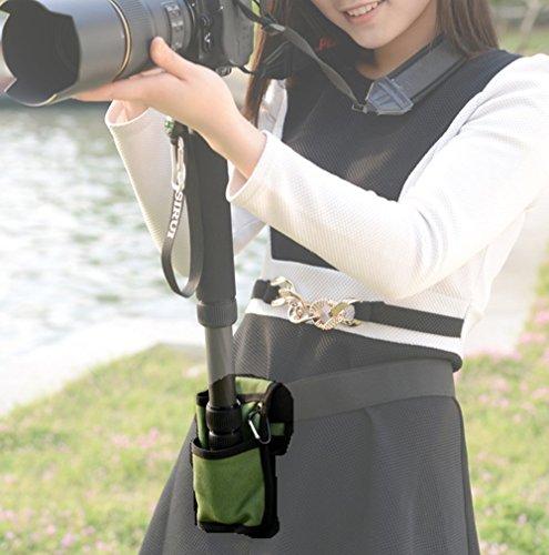 撮影 に超便利 カメラ 一脚 ホルダー 腰ベルト / 場所がなくても しっかりカメラを固定 / 撮影会 運動会 スポーツ フェス 旅行 (パープル)
