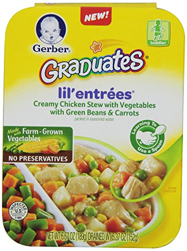Gerber Graduates Lil Entrees Creamy Chicken Stew with Green Beans & Carrots, 6.67 Ounce, 8 Count (Lil Graduates Entrees compare prices)