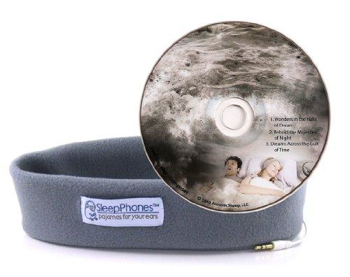 Acousticsheep Sleepphones Classic Sleep Headphones With Dreams Cd (Gray)