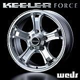 KEELER キーラー フォース FORCE アルミホイール(1本) 15x5.5 +5 139.7 5穴 シルバー 15インチ