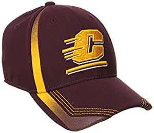 NCAA Central Michigan University Men's Player Structured Flex Fit Hat, Large/X-Large, Navy