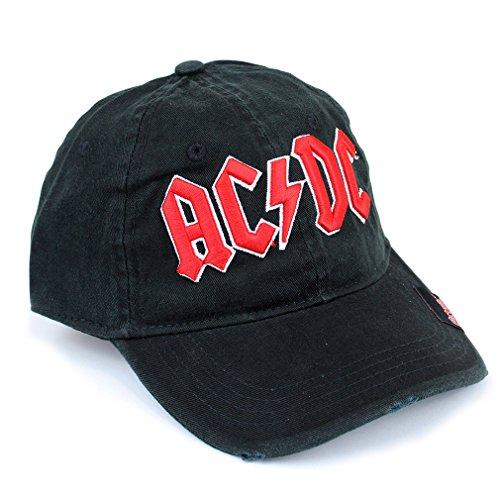 AC/DC-Logo-Cappellino da Baseball cappuccio nero/rosso