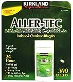 Kirkland Signature Aller-Tec-Cetirizine Hydrochloride Antihistamine 10Mg, 365 Tablets