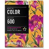 Impossible - 3289 - pellicule couleur pour Appareil Polaroid type 600 - cadre motif floral Fushia- 8 feuilles par boîte