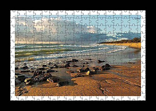 puzzle-style-pre-assembles-imprimer-mur-de-rocks-on-sandy-beach-by-lisa-loft