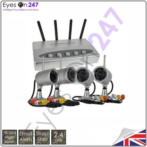 Eye12 - Home cctv camera system 4 camera receiver kit supports DVR combi package + full 2 year product warranty - from Eyeson247 ® Why not ring sales and support for more information - 01782 680636 - (Opening Hours 9:00am-17:00pm)