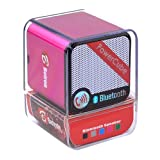 Portable Rechargeable Bluetooth Speaker , Wireless Speaker for iPhone, iPad, iPod, Samsung, Mobile Phones, Tablets PC, Laptops, Ultrabook & more devices(with microphone) (Pink)by Betron
