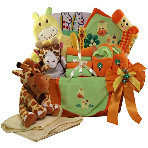 Art of Appreciation Gift Baskets Jessie The Giraffe Baby Gift Basket