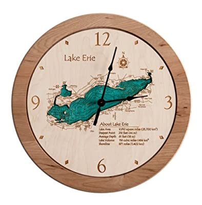 Elbow Pond 2D Laser Carved 14.5 inch Clock Map - Barnstable - MA