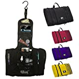 FlatPak Hanging Travel Toiletry Bag for Men - Perfect Carry-on Luggage Organizer Dopp Kit for Shaving Accessories - Best Gift for Travelers Needing Large Storage for Bathroom Essentials
