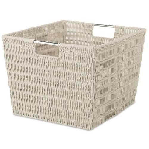 Whitmor Rattique Storage Tote Latte