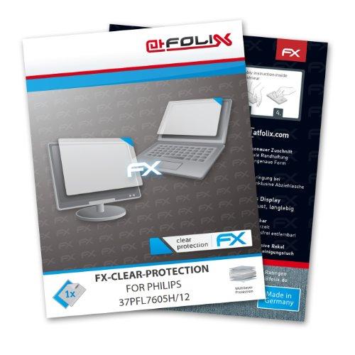 atFoliX Philips 37PFL7605H/12 Schutzfolie Folie - FX-Clear kristallklar