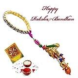 Rajlaxmi Rajlaxmi Designer Bracelet Stone Chuda Lumba/Bhabhi Rakhi