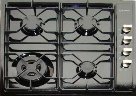 Verona 24 inch Black Gas Cooktop - VECTG424SE
