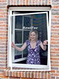 Mako Fenstergitter mit Alurahmen in weiß, 120 x 140 cm Insektenschutz - Alu-Rahmen Bausatz